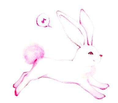 走るウサギのイラスト